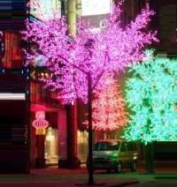 LED Tree Light Cherry String Christmas Festival Light Red/Yellow 760W CM-SL-12672L1