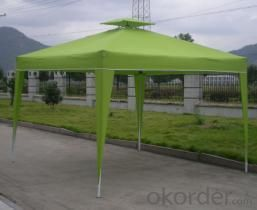 Hot Selling Outdoor Market Umbrella Green Full Iron Folding Tent