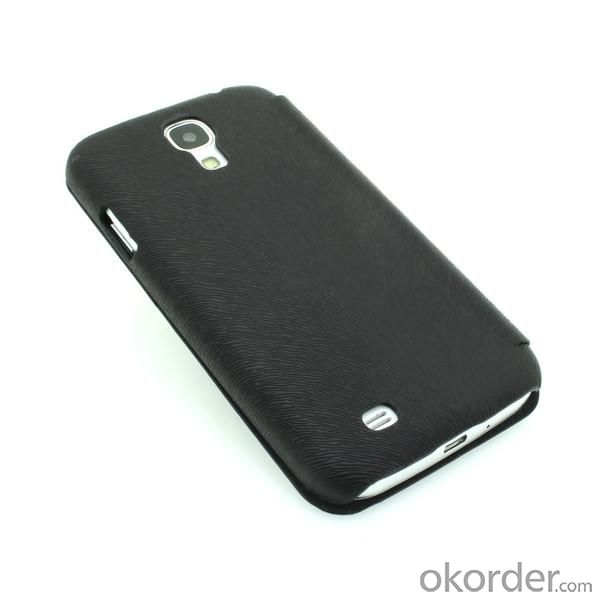 Wallet Pouch Luxury PU Leather Case Cover for Samsung Galaxy S4 (I9500) Black