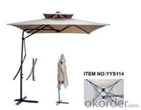Hot Selling Outdoor Market Umbrella Full Iron Offset Umbrella Polyester