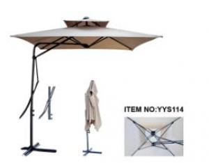 Hot Selling Outdoor Market Umbrella Full Iron Offset Umbrella Polyester
