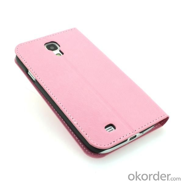 Wallet Pouch Luxury PU Leather Stand Case Cover for Samsung Galaxy S4 (I9500) Pink
