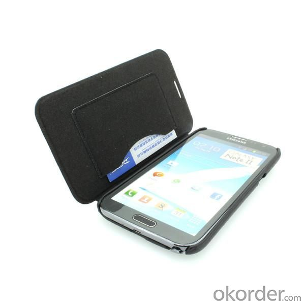 Wallet Pouch Luxury PU Leather Case Cover for Samsung Galaxy Note 2/3 Black