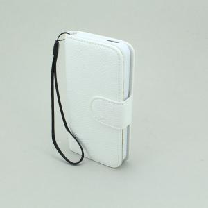 PU Leather Stand Case Cover for iPhone5/5S Wallet Pouch White