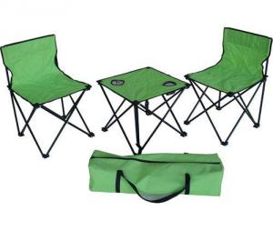Hot Selling Beach Chair Simple Green Folding Armchair Set