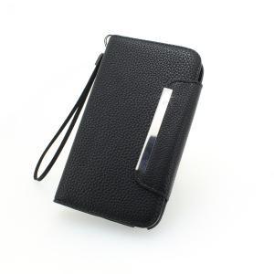 2014 Hot Sale Business Wallet Pouch Case For Samsung i9500 Galaxy S4 Litchi Grain Horizontal Flip Case Cover Black