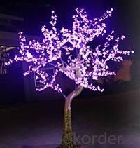 LED Artifical Cherry Tree Lights Flower String Christmas Festival Decorative Light Pink/Purple/RGB 87W CM-SLFZ-1440L3