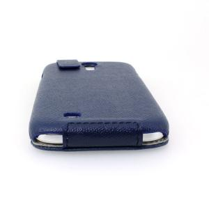 Luxury PU Leather Case Cover for Samsung Galaxy S4 (I9500) Flip Style Blue