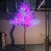 LED Artifical Peach Tree Lights Flower String Christmas Festival Decorative LightRed/Yellow 296W CM-SLFZ-4920L1