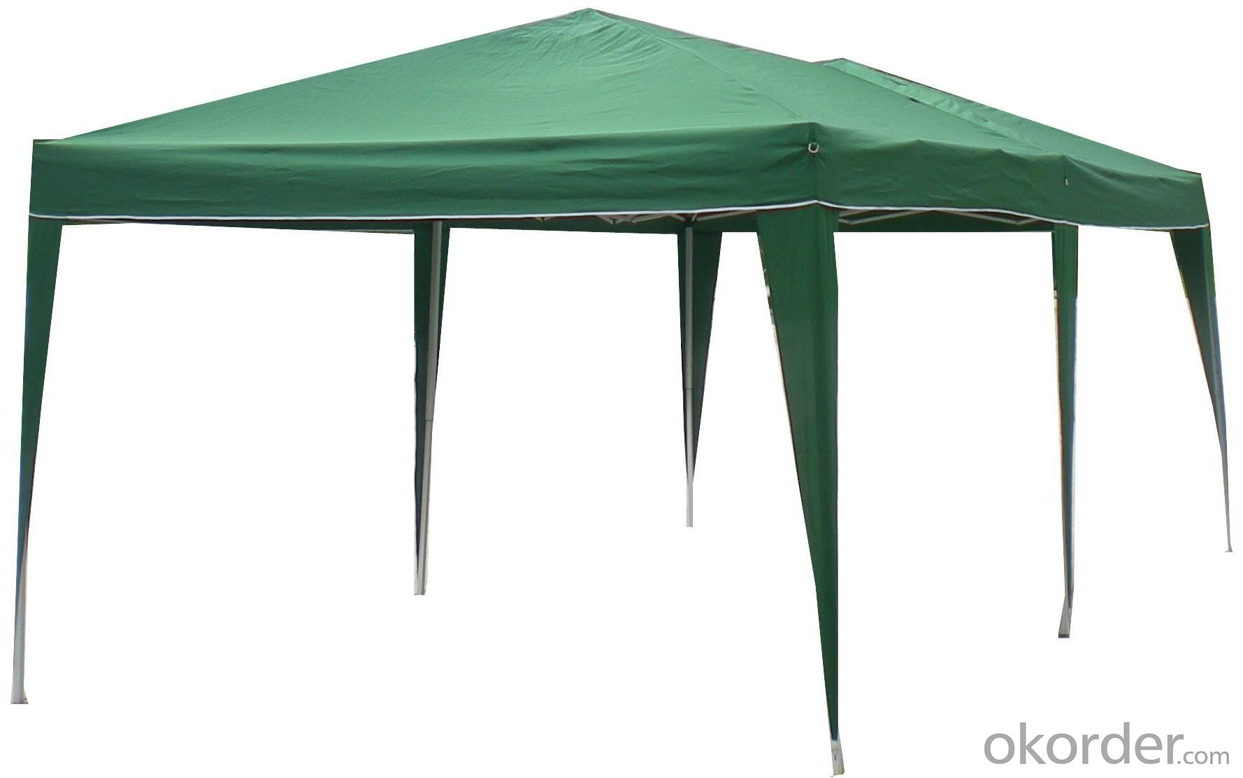 Hot Selling Outdoor Market Umbrella Full Iron Folding Dark Green Tent