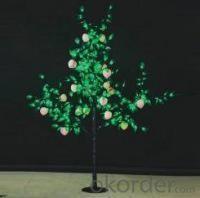 LED Fruit Tree String Christmas Festival Light Green Leaves+ Peach 29W CM-SLF-480Lp