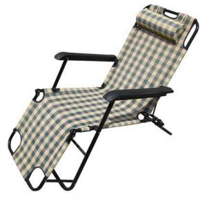 Hot Selling Beach Chair With Neck Pillow Lattice Pattern Deck chair L