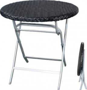 Hot Selling Outdoor Furniture Classical Black Folding Rattan Table