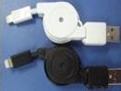 Retractable data cable for iPhone5 White