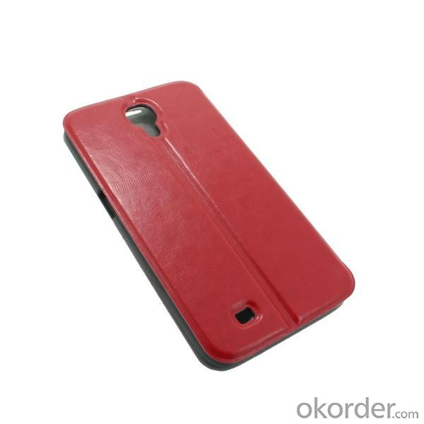 For Samsung Galaxy I9500 S4 Shiny PU Lather Wallet Card Case Cover For 2014 World Cup Mobile Phone Accessory Red