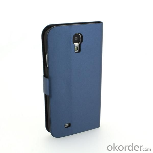 Luxury PU Leather Stand Book Style Case Cover for Samsung Galaxy S4 (I9500) Blue