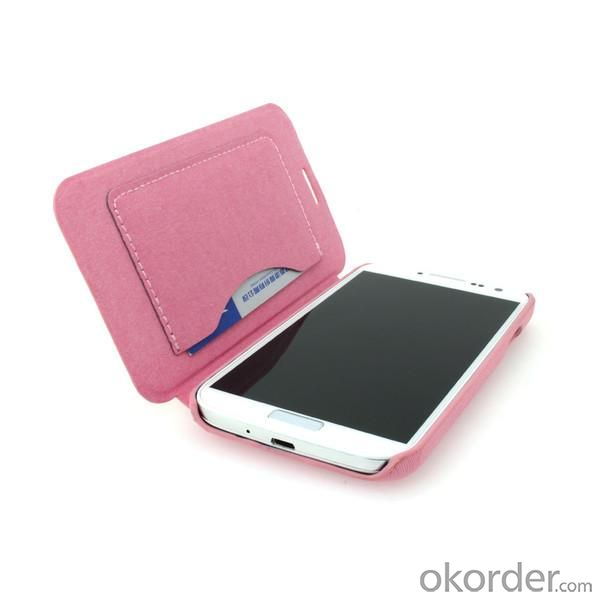 For Samsung Galaxy S4 (I9500) Wallet Pouch Luxury PU Leather Case Cover Pink