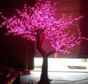 LED Artifical Peach Tree Lights Flower String Christmas Festival Decorative Light Pink/Purple/RGB 144W CM-SLFZ-2400L3