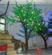 LED Artifical Real Peach Tree Lights Flower String Christmas Festival Decorative Light Green 156W CM-SLGFZ-2592L