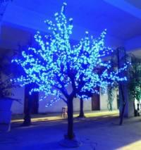 LED Artifical Real Cherry Tree Lights Flower String Christmas Festival Decorative Light Blue/Green/White 113W CM-SLGFZ-1872L2