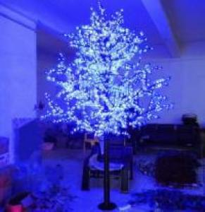 LED Artifical Maple Leaf Tree Lights Flower String Christmas Festival Decorative Light Blue/Green/White 148W CM-SLGFZ-2460L2