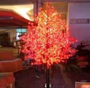 LED Artifical Maple Leaf Tree Lights Flower String Christmas Festival Decorative Light Pink/Purple/RGB 125W CM-SLGFZ-2076L3