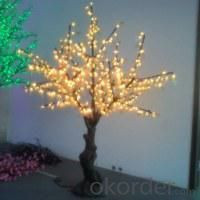 LED Artifical Real Cherry Tree Lights Flower String Christmas Festival Decorative Light Red/Yellow 44W CM-SLGFZ-720L1