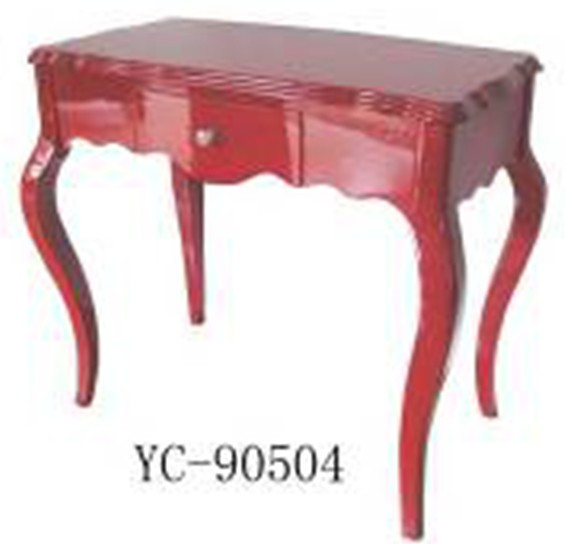 Home Furniture Classical Red PU High Gloss One Drawer Chest MDF And Birch Solid