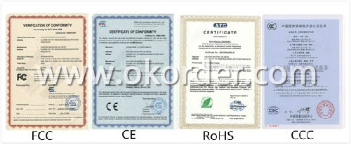 Certificates of 7 Inch Android GPS With DVR Function
