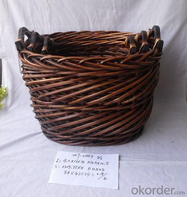 High Quality Home Organization Oval Woven Basket Home Storage Basket