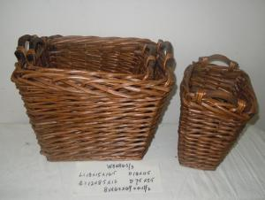 Home Organization Hand Made Rectangle Willow Basket Home Storage Basket