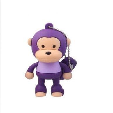 2GB Cute Mini Cartoon Monkey Portable USB Flash Memory Stick Drive Purple