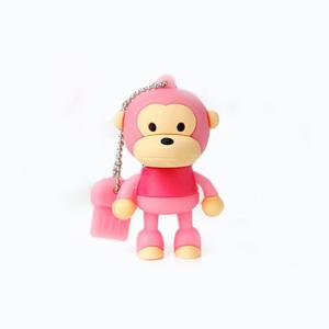 2GB Cute Mini Cartoon Monkey USB Flash Memory Stick Drive Pink