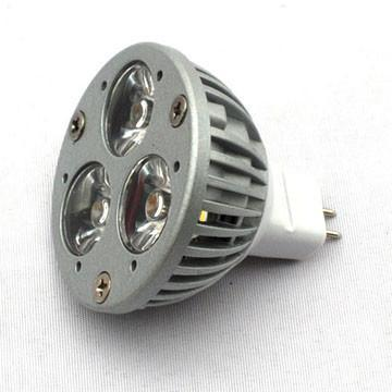 LED 3x1W Spot Light MR16 Base Dia-cast Aluminum 12V/24V
