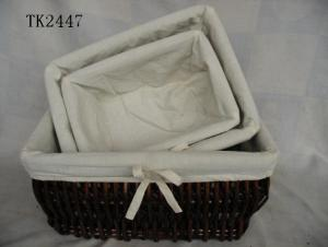 Hot Sale Home Storage Set Of Three Classical Willow Basket