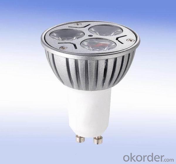 LED 3x1W Spot Light Gu10 Dia-cast Aluminum  110-240V