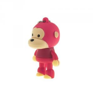 2GB Cute Mini Cartoon Monkey USB Flash Memory Stick Drive Red