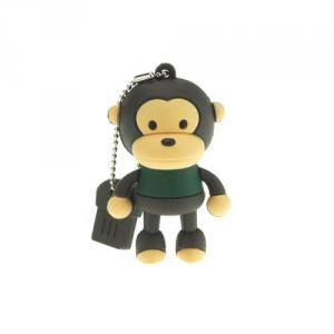 2GB Cute Mini Cartoon Monkey USB Flash Memory Stick Drive Black And Green