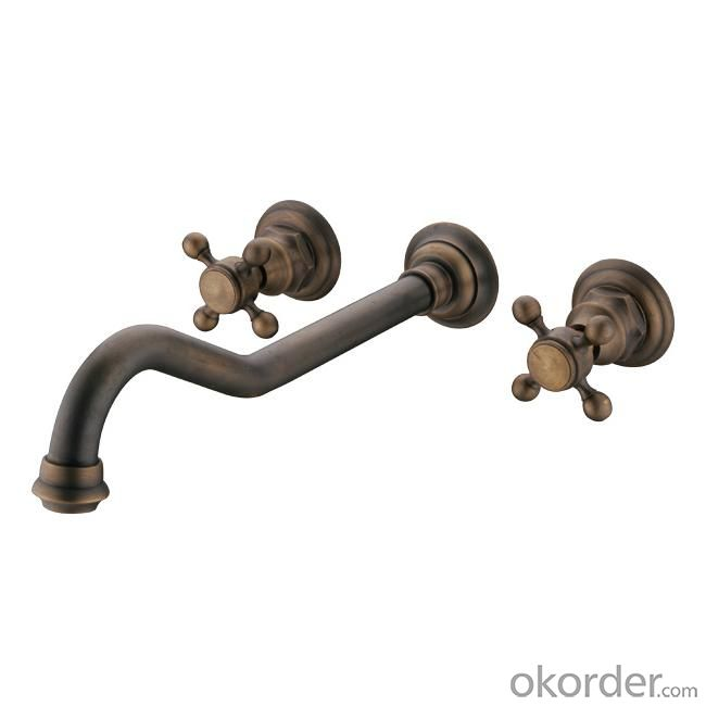 Hot!!! Antique Plated Faucet With Double Handle