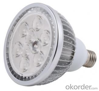 Dimmable LED PAR 30 Light Finned Radiator 6W B-Type Spot Light E27 Base SMD LED Chip 85-265V