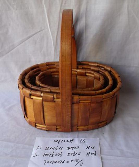 High Quality Hand Made Oval Shape Home Storage Basket Woven Basket