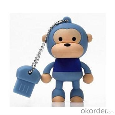 2GB Cute Mini Cartoon Monkey USB Flash Memory Stick Drive Blue