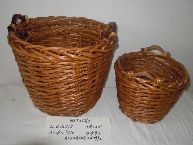 Home Organization Hand Made Oval Shape Willow Basket Home Storage Basket