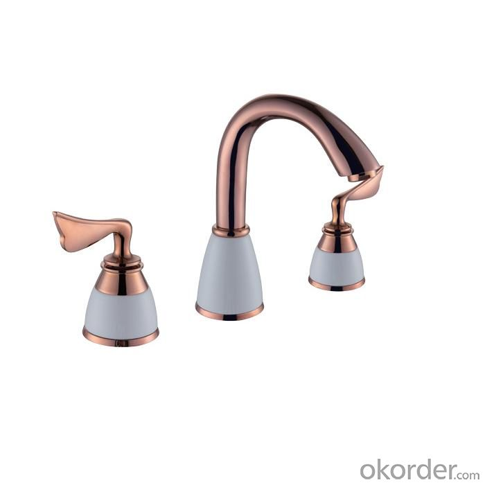 Rosed Gold Plated Faucet With Two Handles