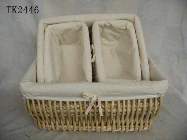 Hot Sale Home Storage Set Of Four Nature Willow Basket