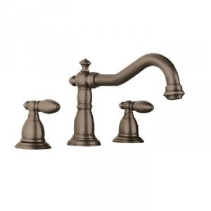 Antique Plated Faucet With Two Blass Handles