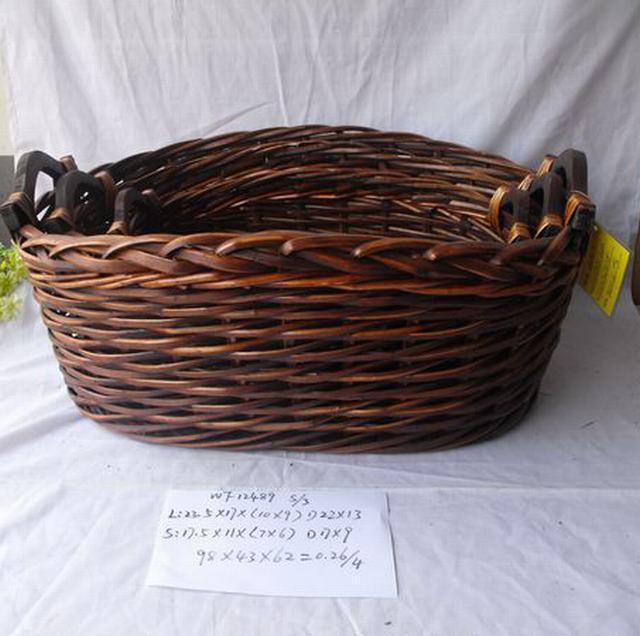 Hot Sale Home Organization Oval Antique Home Storage Basket