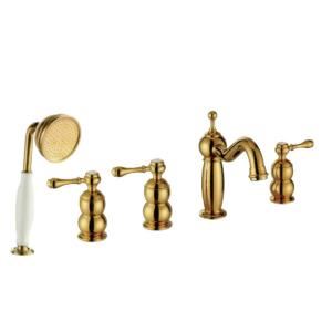 Hot Sale Gold Plated Faucet With Brass Shower