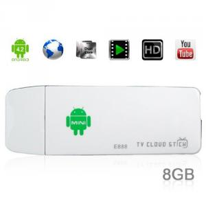 E888 Bluetooth Android 4.2 Quad Core 2GB RAM 8GB ROM TV Box HDMI Wifi Mini PC