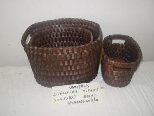 Hot Sale Home Organization Oval Home Storage Basket Woven Basket